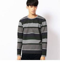 ランダムボーダープリントTシャツ