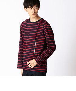 ラインプリントボーダーTシャツ