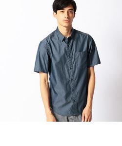 デニムシャンブレー半袖シャツ