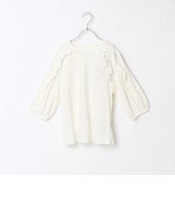 【Jrサイズ】七分袖フリルTシャツ