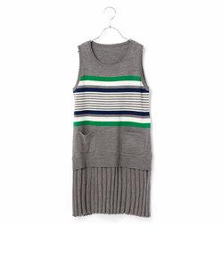 【Jrサイズ】リバーシブルニットドレス