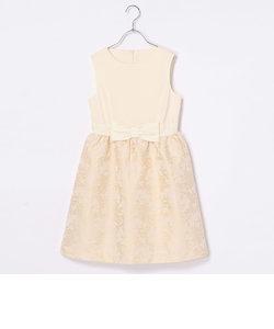 【ジュニアサイズ】フラワージャガードドレス
