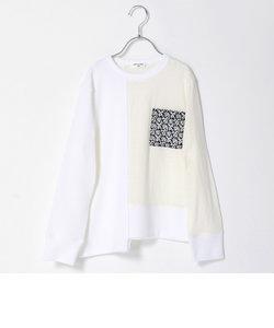 【ジュニアサイズ】異素材使い長袖Tシャツ