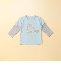 ハリネズミプリント長袖Tシャツ