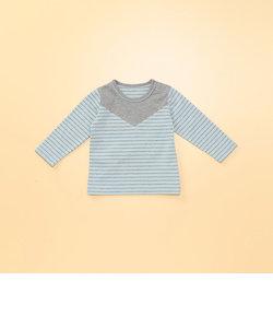 胸切り替え長袖Tシャツ