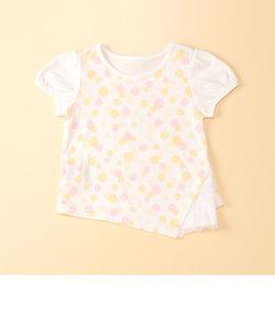 水玉総柄プリント半袖Tシャツ