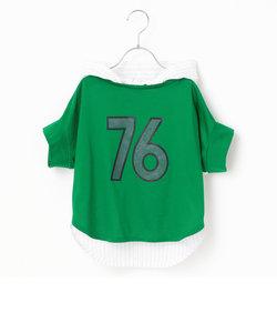 【ジュニアサイズ】ベースボール風Tシャツ