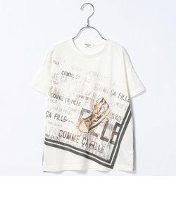 スニーカープリントTシャツ