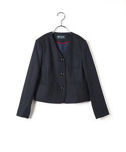 ノーカラー3つ釦女児ジャケット