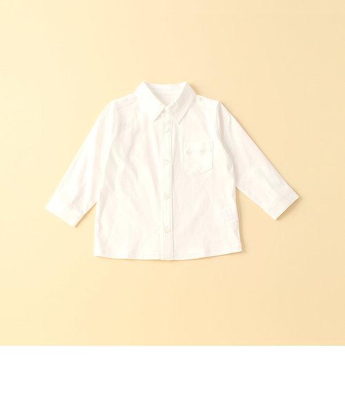 台衿付き長袖シャツ