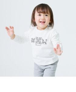 雪柄 長袖 Tシャツ