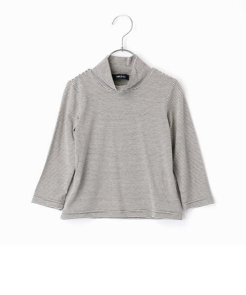 あったかボーダーハイネックTシャツ