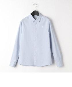 〔140cm~〕台襟付きシャツ