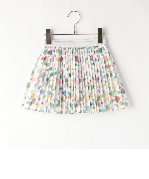 虹色プリーツスカート