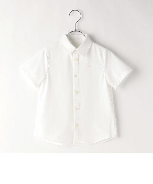 台衿付き半袖シャツ