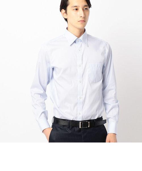 254c73dccea63 ... レギュラーカラー長袖ドレスシャツヘアラインストライプ ...