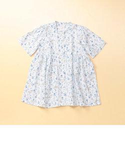小花プリントシャツドレス