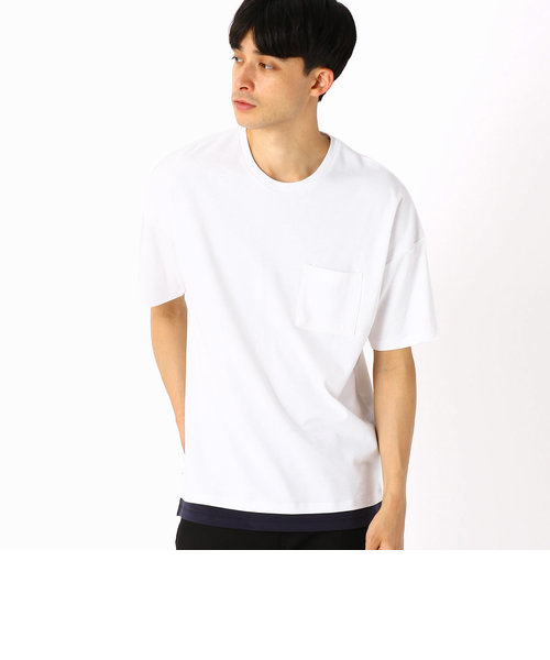 フェイクレイヤードビッグTシャツ
