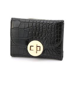 クロコ調 型押し ミニ財布