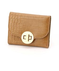 〈カラー豊富!!!〉クロコ調 型押し ミニ財布