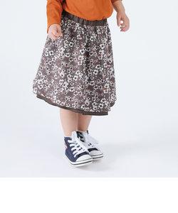 フラワープリント リバーシブルスカート