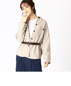 《イタリア糸/ウール》 ワイドシルエット CPOジャケット シャツブルゾン