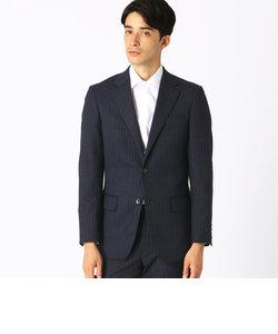 <スーツ> デニムライク ミルドストライプ レギュラーモデル スーツ