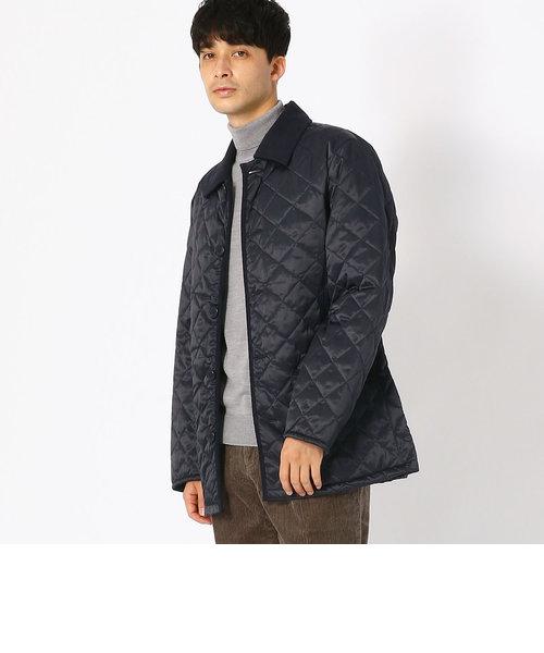 《サーモライト(R)中綿》 ビジネス ヴィンテージサテン キルティング コート ジャケット
