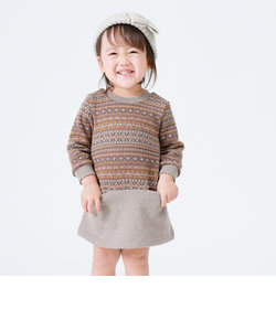 フェアアイル柄 長袖ワンピース(80・90サイズ)