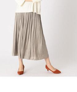 〈ワンピース風/セットアップ対応〉サテン とろみ プリーツスカート