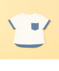 デニムポケット付き 半袖Tシャツ(80・90サイズ)