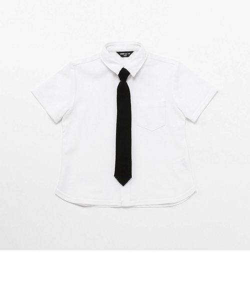 ネクタイ付き 半袖シャツ(100-130cm)