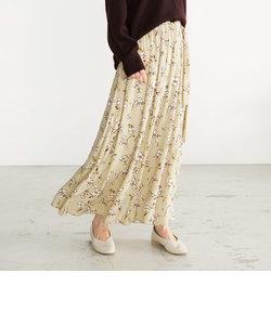 フラワープリント ロング マーメイドスカート