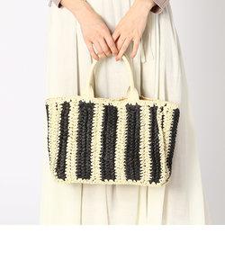 《ショルダー付き》ざっくり編み カゴバッグ