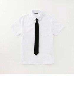 ネクタイ付き 半袖シャツ (140-160cm)