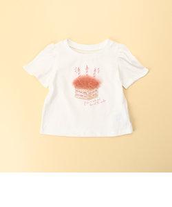 ケーキプリント 半袖Tシャツ(80・90サイズ)