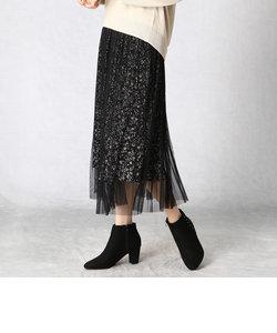 【セットアップ対応】 フラワープリント スカート