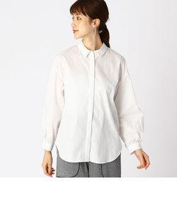《オーガニック コットン》 チビ襟 ビッグシルエット シャツ