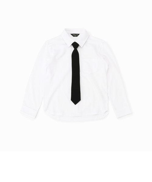 ネクタイ付き 長袖シャツ(100-130サイズ)