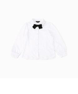 リボンタイ付き 長袖ブラウス(100-130サイズ)