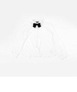 リボンタイ付き 長袖ブラウス(140-160サイズ)
