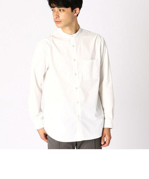 バンドカラー ホワイトシャツ