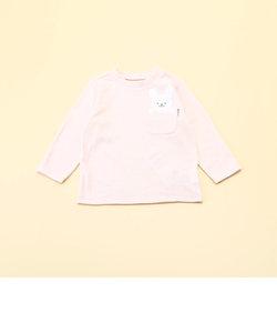 動物アップリケ付き 長袖Tシャツ(80・90サイズ)