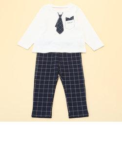 長袖Tシャツと10分丈パンツが入った ギフトセット(80・90サイズ)
