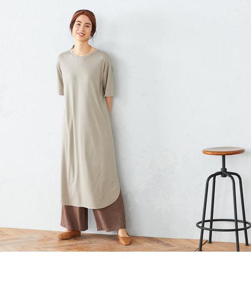 サイドスリット Tシャツ ワンピース