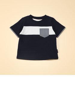 ギンガムチェック使い 半袖Tシャツ(80・90サイズ)