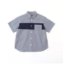 ギンガムチェック 半袖シャツ