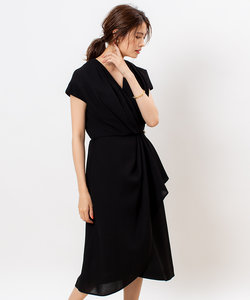 【FLICKA】アシメドレープドレス