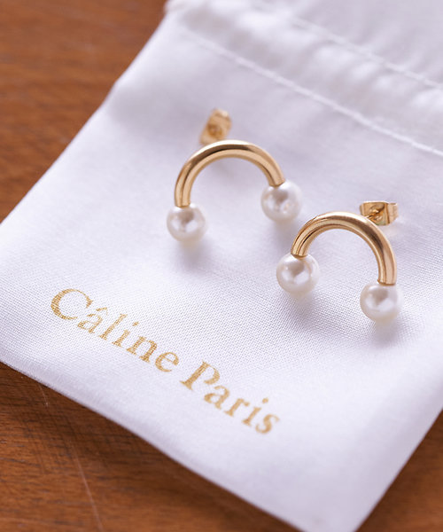Caline Paris Uパールピアス