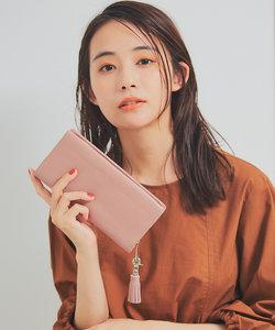 【BEAURE】タッセル付きカウレザー長財布